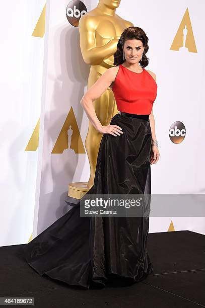 Singer Idina Menzel poses in the press room during the 87th Annual Academy Awards at Loews Hollywood Hotel on February 22 2015 in Hollywood California
