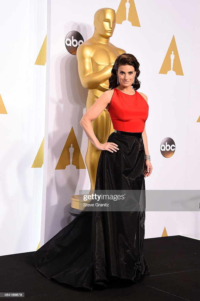 Singer Idina Menzel poses in the press room during the 87th Annual Academy Awards at Loews Hollywood Hotel on February 22, 2015 in Hollywood, California.