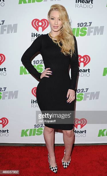 Singer Iggy Azalea arrives at KIIS FM's Jingle Ball 2014 at Staples Center on December 5 2014 in Los Angeles California