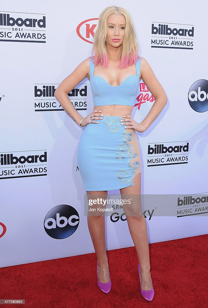 Singer Iggy Azalea arrives at the 2015 Billboard Music Awards at MGM Garden Arena on May 17, 2015 in Las Vegas, Nevada.