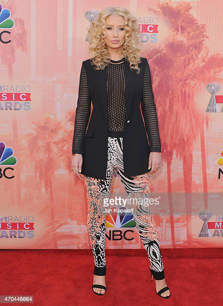 Singer Iggy Azalea arrives at the 2015 iHeartRadio Music Awards at The Shrine Auditorium on March 29 2015 in Los Angeles California