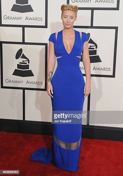 Singer Iggy Azalea arrives at the 57th GRAMMY Awards at Staples Center on February 8 2015 in Los Angeles California