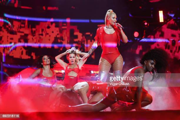 Singer Iggy Azalea performs on stage during the MTV MIAW Awards 2017 at Palacio de Los Deportes on June 3 2017 in Mexico City Mexico