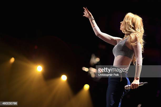 Singer Iggy Azalea performs onstage during KIIS FM's Jingle Ball 2014 powered by LINE at Staples Center on December 5 2014 in Los Angeles California