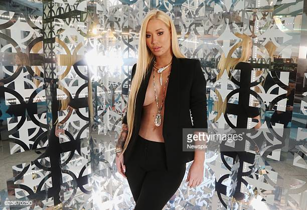 SYDNEY NSW Singer Iggy Azalea poses ahead of his black carpet arrival at the GQ Men of the Year Awards in Sydney New South Wales