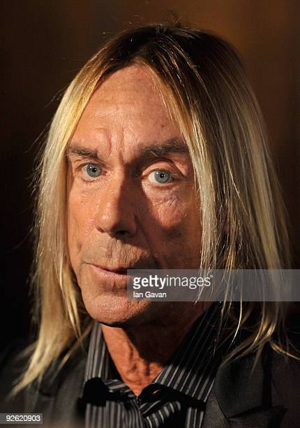 Singer Iggy Pop attends the Classic Rock Roll Of Honour Awards at the Park Lane Hotel on November 2 2009 in London England