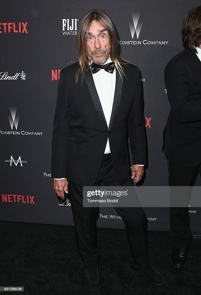 Singer Iggy Pop attends The Weinstein Company and Netflix Golden Globe Party, presented with FIJI Water, Grey Goose Vodka, Lindt Chocolate, and Moroccanoil at The Beverly Hilton Hotel on January 8, 2017 in Beverly Hills, California.