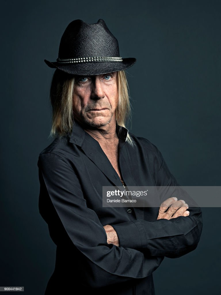 Singer Iggy Pop is photographed on April, 2017 in Bern, Switzerland.