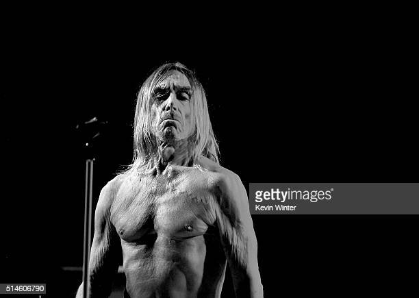 Singer Iggy Pop performs at the Teragram Ballroom for The Post Pop Depression Tour on March 9 2016 in Los Angeles California