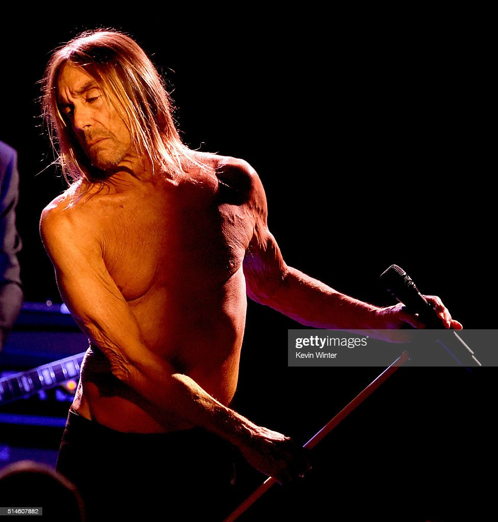 Singer Iggy Pop performs at the Teragram Ballroom for The Post Pop Depression Tour on March 9, 2016 in Los Angeles, California.