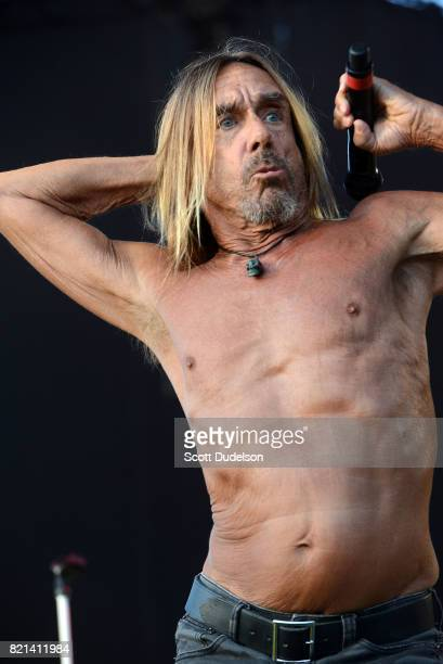 Singer Iggy Pop performs onstage during FYF Fest on July 23 2017 in Los Angeles California