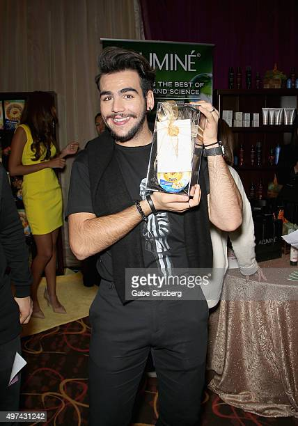 Singer Ignazio Boschetto of Il Volo attend the gift lounge during the 16th Latin GRAMMY Awards at the MGM Grand Garden Arena on November 16 2015 in...