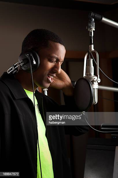 Singer in a Recording Studio
