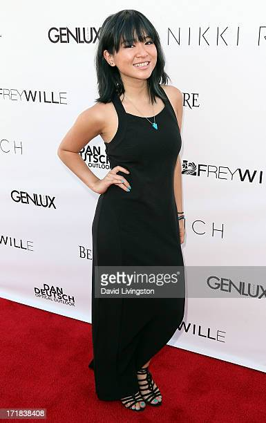 Singer Inch Chua attends the Genlux Summer Issue Release Party hosted by Brooke Burke Charvet at the Luxe Rodeo Drive Hotel on June 28 2013 in...