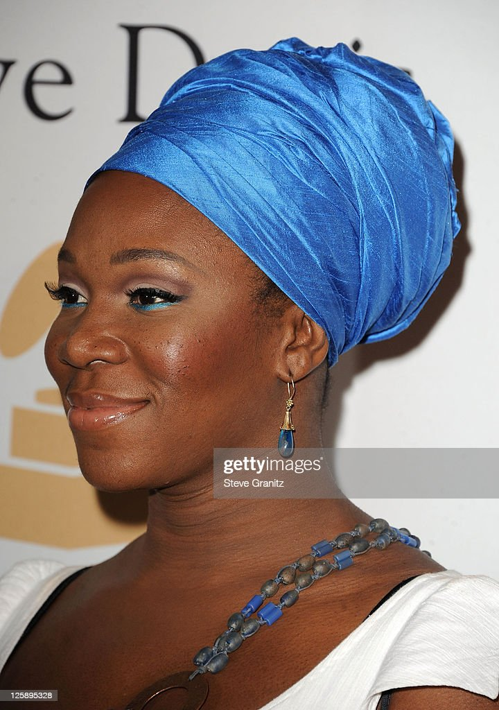 Singer India Arie arrives at the 2011 Pre-GRAMMY Gala and Salute To Industry Icons Honoring David Geffen at The Beverly Hilton Hotel on February 12, 2011 in Beverly Hills, California.