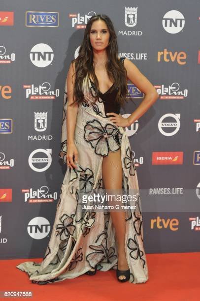 Singer India Martinez attends the 'Platino Awards 2017' photocall at La Caja Magica on July 22 2017 in Madrid Spain