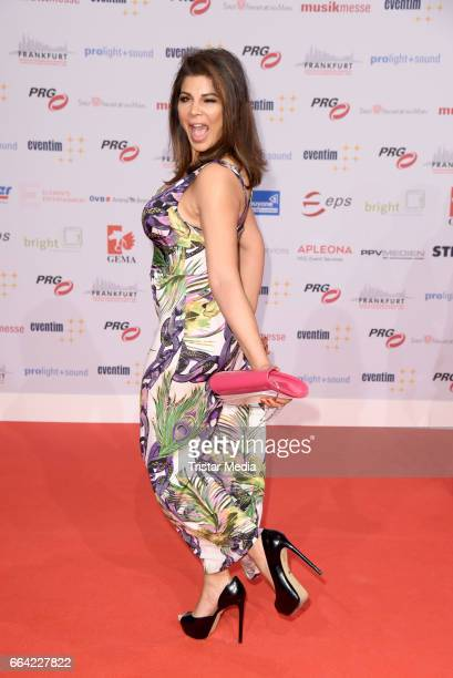 Singer Indira Weis attends the LEA PRG Live Entertainment Award 2017 at Festhalle Frankfurt on April 3 2017 in Frankfurt am Main Germany