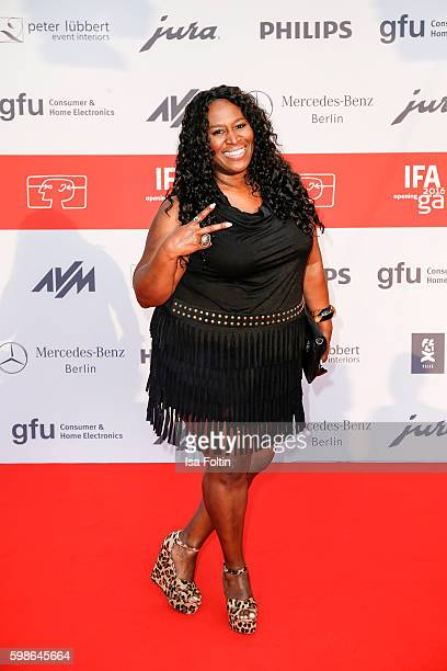 Singer Ingrid Arthur attends the IFA 2016 opening gala on September 1 2016 in Berlin Germany