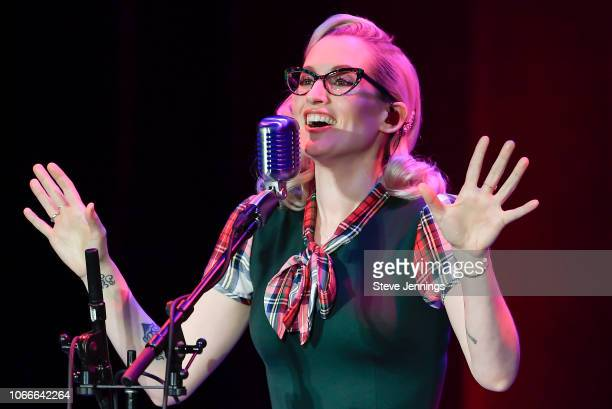 Singer Ingrid Michaelson performs on her Songs For The Seasons Tour at The Masonic Auditorium on November 29, 2018 in San Francisco, California.