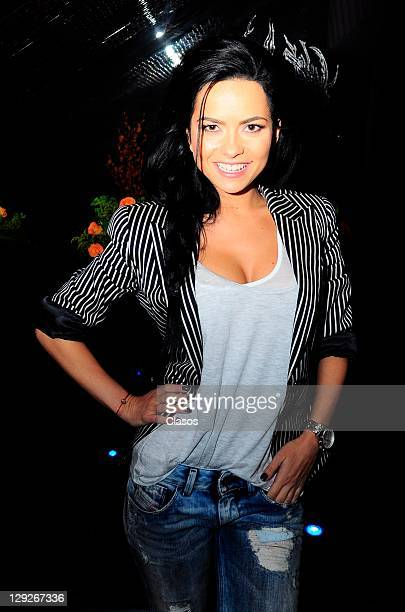 Singer Inna at the Drake Restaurant in Mexico City on October 05 2011 in Mexico City Mexico