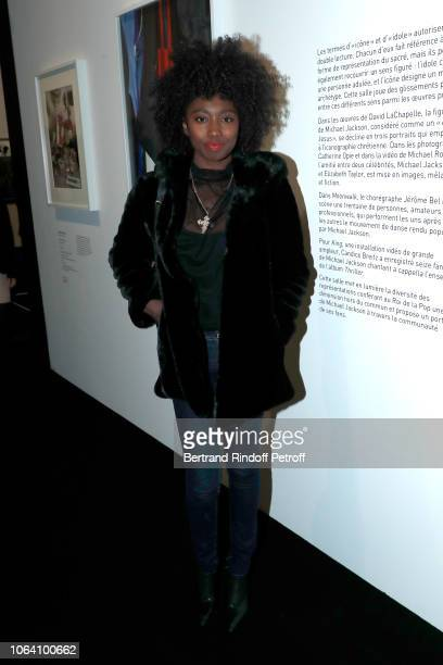Singer Inna Modja attends the Inauguration of the Exhibition Michael Jackson On The Wall at Grand Palais on November 21 2018 in Paris France