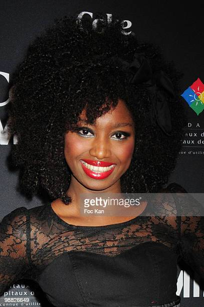 Singer Inna Modja attends the New Coke Bottle Launch Designed by Mika Concert Party Arrivals at 1515 Club on April 16 2010 in Paris France