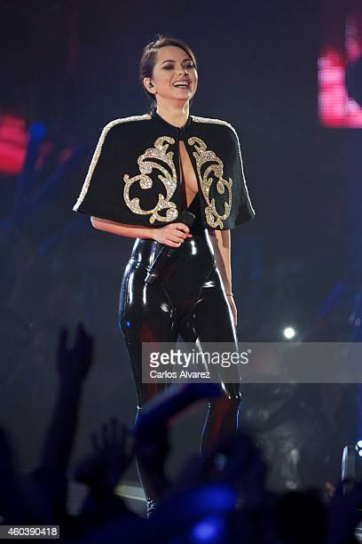 Singer Inna performs on stage during the 40 Principales awards 2013 ceremony at the Barclaycard Center on December 12 2014 in Madrid Spain