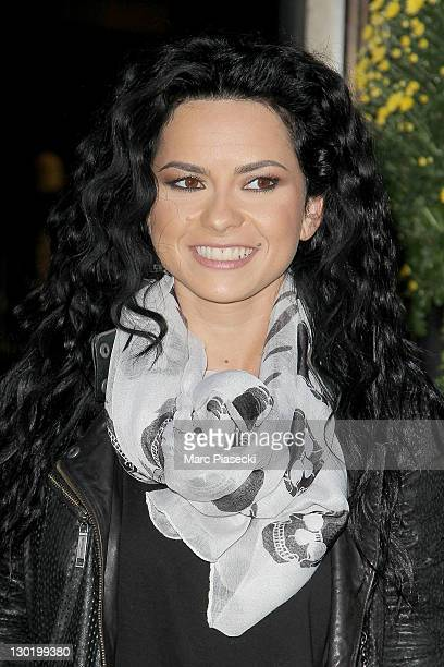 Singer Inna sighted outside her hotel on October 24 2011 in Paris France