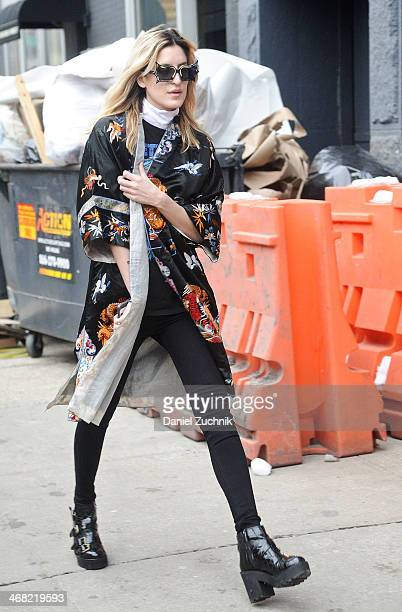 Singer Ioanna Gika attends the Diane Von Furstenberg show on February 9 2014 in New York City