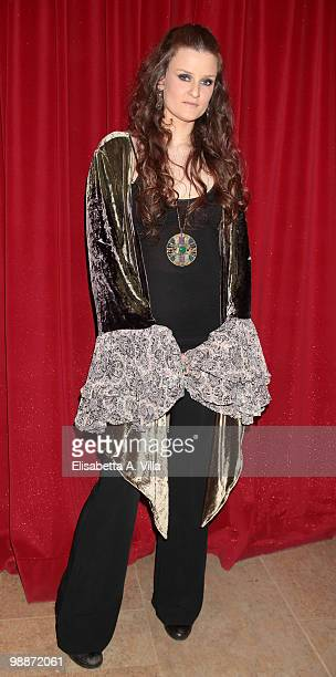 Singer Irene Fornaciari attends the ''Lotto Per Amore'' TV show at RAI studios on May 5 2010 in Rome Italy