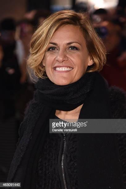 Singer Irene Grandi attends preview of 65th Festival della Canzone Italiana 2015 at Teatro Ariston on February 9 2015 in Sanremo Italy