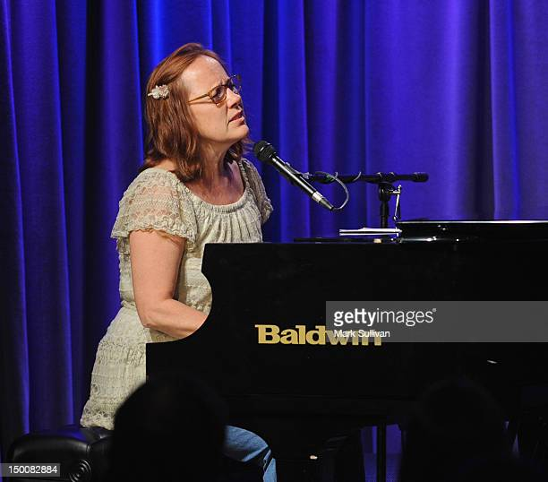 Singer Iris Dement performs onstage during An Evening With Iris Dement at The GRAMMY Museum on August 9 2012 in Los Angeles California