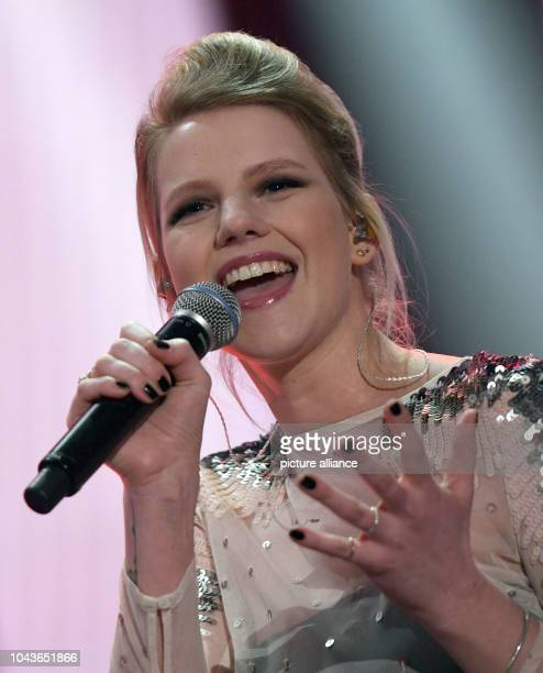 Singer Isabella 'Levina' Lueen performs during the general rehearsal for the German preliminary decision 'Unser Song fuer 2017' for this year's...