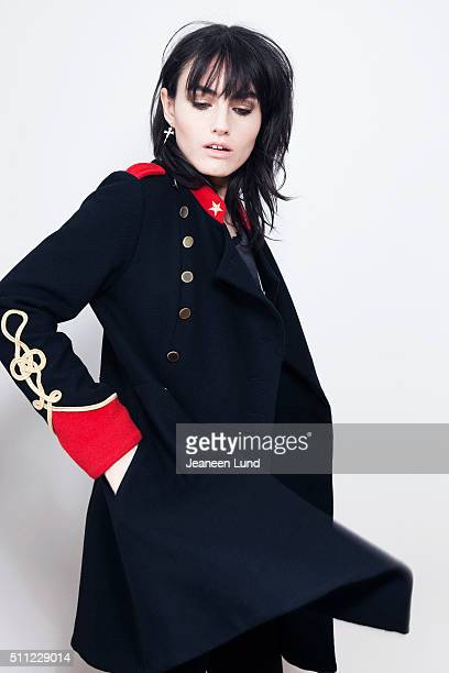Singer Isabella Manfredi aka Izzi of The Preachers is photographed for Untitled Magazine on March 31 2015 in Brooklyn New York
