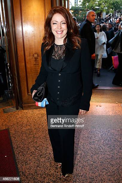 Singer Isabelle Boulay attends the last Jean Paul Gaultier Womenswear show as part of the Paris Fashion Week Womenswear Spring/Summer 2015 Held at...