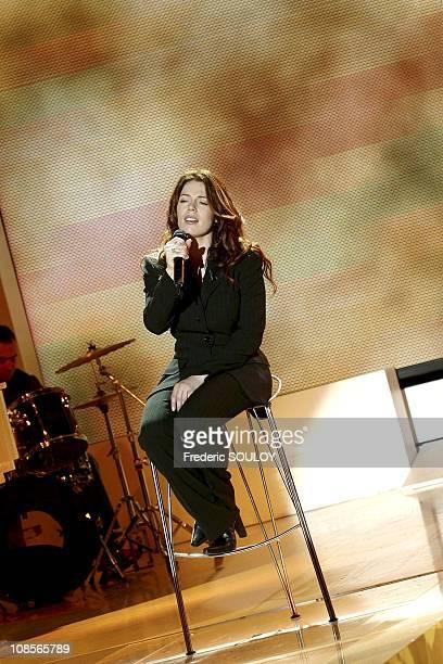 Singer Isabelle Boulay in Paris France on September 29th 2004