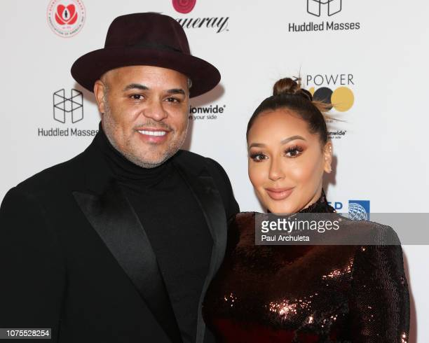 Singer Israel Houghton and TV Personality Adrienne Houghton attends Ebony Magazine's Ebony's Power 100 Gala at The Beverly Hilton Hotel on November...