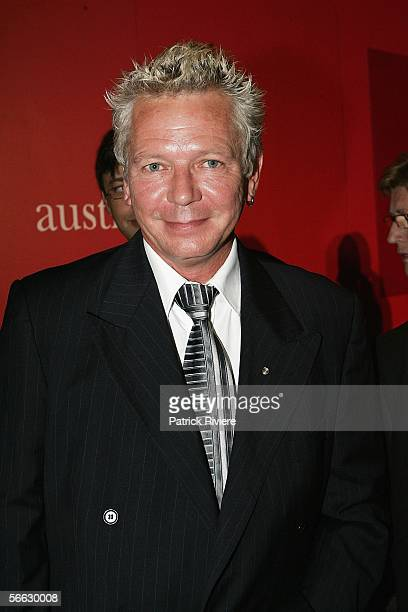 Singer Iva Davies attends the Australia's largest annual corporate lunch, the Australia Day Lunch, at the Sydney Convention and Exhibition Centre on...
