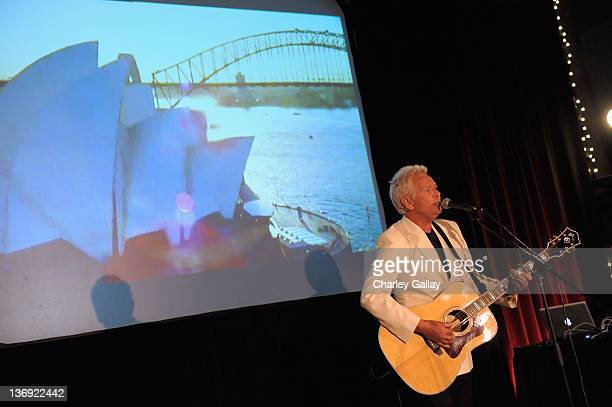 Singer Iva Davies performs at the Qantas Airways Spirit of Australia Party at the Hollywood Roosevelt Hotel on January 12 2012 in Hollywood California