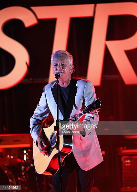 Singer Iva Davies performs during the Athlete Farewell Appeal Dinner for the 2012 Australian Olympic Team at the Sydney Convention Exhibition Centre...