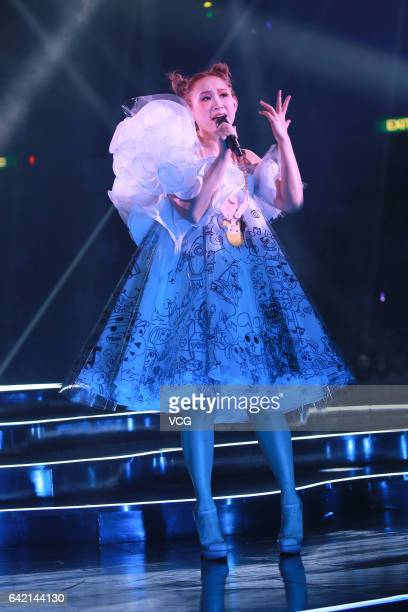 Singer Ivana Wong performs during The Magical Teeter Totter concert at Hong Kong Coliseum on February 16 2017 in Hong Kong China