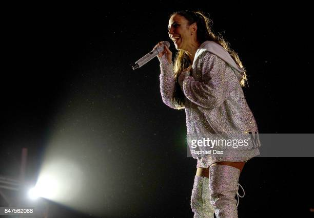 Singer Ivete Sangalo performs at day 1 of Rock in Rio 2017 on September 15 2017 in Rio de Janeiro Brazil