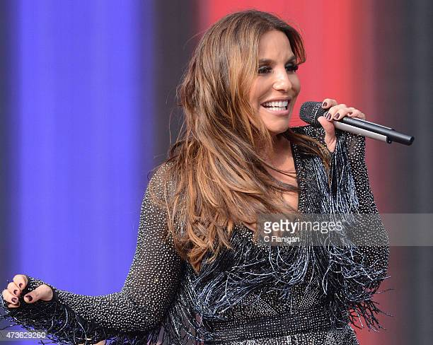 Singer Ivete Sangalo performs during Rock in Rio USA at the MGM Resorts Festival Grounds on May 15 2015 in Las Vegas Nevada