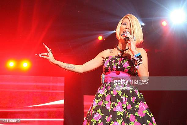 Singer Ivy Queen performs during a pre-Puerto Rican Day Parade celebration concert on June 7, 2008 at Madison Square Garden in New York City.