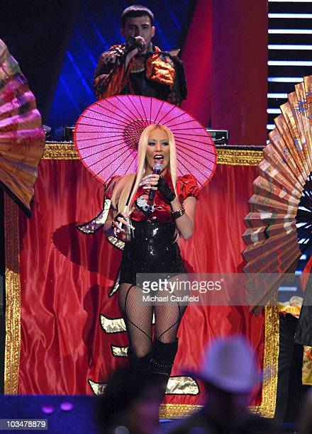Singer Ivy Queen performs during the 8th Annual Latin GRAMMY Awards at Mandalay Bay on November 8 2007 in Las Vegas Nevada
