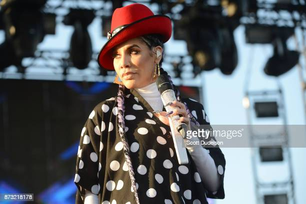 Singer Ivy Queen performs onstage during the Tropicalia Music and Taco Festival at Queen Mary Events Park on November 11 2017 in Long Beach California