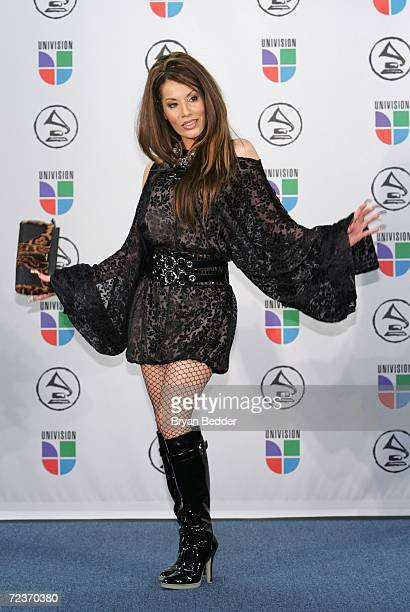 Singer Ivy Queen poses in the press room at the 7th Annual Latin Grammy Awards at Madison Square Garden November 2, 2006 in New York City.