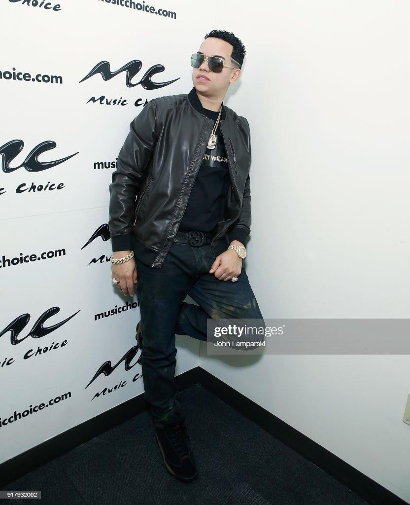 Singer J Alvarez visits Music Choice on February 13, 2018 in New York City.
