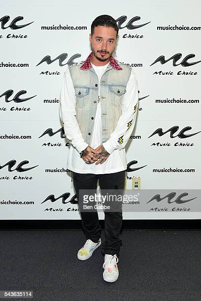 Singer J Balvin visits at Music Choice on June 29 2016 in New York City