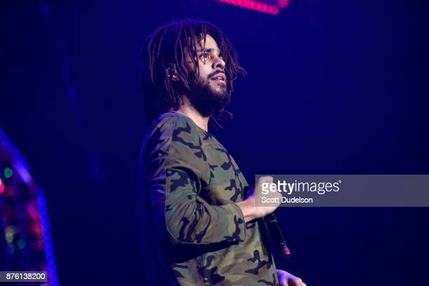 Singer J Cole performs onstage during the Real 923 Real Show at The Forum on November 18 2017 in Inglewood California